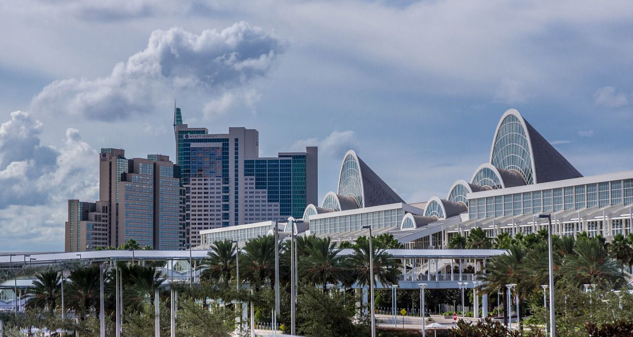 A view of downtown Orlando, representing the top Orlando neighborhoods for millennials.
