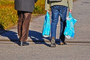 Helping with groceries is a great way of meeting new neighbors.