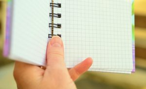 Make a list in a notepad.