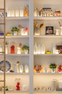 How to create additional storage space in your home- shelves on the wall