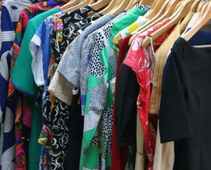 Throw away cothes you don't wear if you want to declutter and downsize your home effectively.