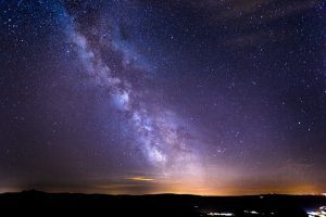 A starry sky and the Milky Way