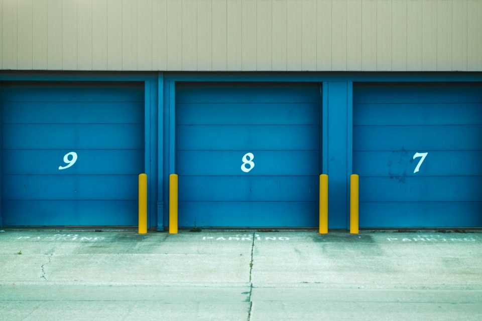 blue units as self-storage solutions