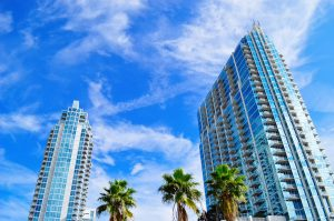 Tampa as one of the best places to buy a property in Florida with high rise buildings